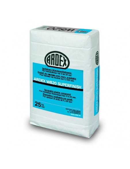 ARDEX W820 Super Finish - Masilla de enlucido y acabado paredes y techos