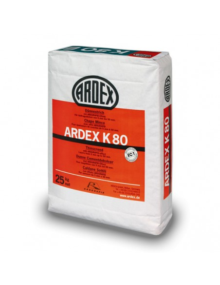 ARDEX K80 - Mortero autonivelante rápido efecto hormigón pulido.