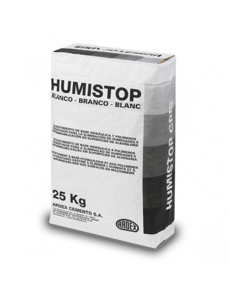 HUMISTOP BLANCO - Mortero impermeabilizante cementoso color blanco