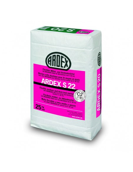 ARDEX S22 - Cemento cola flexible capa gruesa para piedra natural